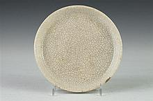 CHINESE GE-TYPE PORCELAIN DISH, - 6 in. diam.