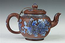 CHINESE YIXING TEA POT, Shao Youlan maker's mark, mid-Qing Dynasty or later. - 5 1/2 in. high.