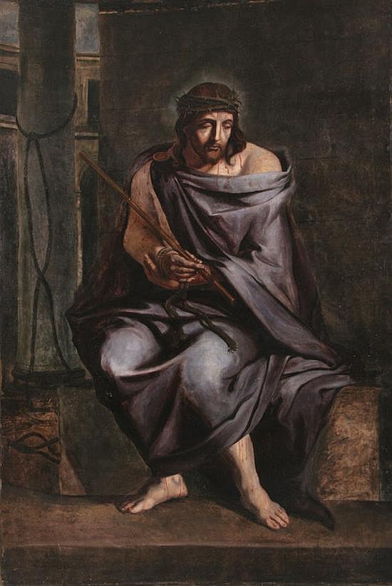 JEAN-BAPTISTE DE CHAMPAGNE (Belgian, 1631-1681). CHRIST, oil on canvas.