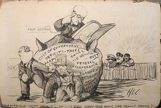 HENRY IVES COBB (American, 1859-1931). AMERICA MUST