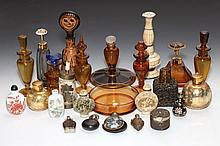 COLLECTION SCENT AND SNUFF BOTTLES. - 7 in. high, tallest.