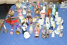 COLLECTION VINTAGE COLLECTIBLE SCENT AND OTHER BOTTLES INCLUDING AVON. - 9 in. high, largest.