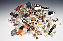 82 MINIATURE GLASS SCENT BOTTLES.