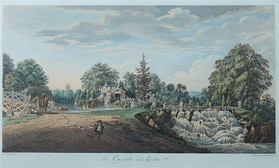 AFTER PAUL SANDBY, RA (British, 1725-1809). Five hand-colored engravings including