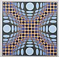 VICTOR VASARELY (French/Hungarian, 1906-1997). UNTITLED, signed and numbered in pencil lower margin. Color lithograph.