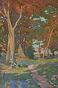 ATTRIBUTED TO MIKHAIL GUERMACHEFF (Ukranian, 1867-1930). AUTUMN TREES, signed lower right. Oil on canvas.