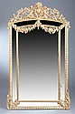 CONTINENTAL XVI GILT-WOOD PAR CLOS PIER MIRROR , - 67 1/4 in. x 40 in.