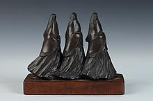 ALLAN HOUSER. (American, 1914-1994). UNTITLED, signed and numbered 1/20. Bronze. Lot includes hardcover book
