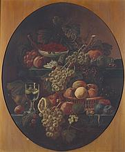 SCHOOL OF SEVERIN ROESEN (20th century). STILL LIFE WITH CASCADING FRUIT, oil on canvas.