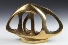 AMERICAN SCHOOL (20th century). ABSTRACT FORM, brass.