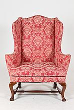 KINDEL WINTERTHUR COLLECTION QUEEN ANNE STYLE WING CHAIR,