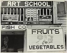 WALKER EVANS (American, 1903-1975). BEAUFORT, SOUTH CAROLINA, gelatin silver print, later imp.