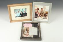 THREE AUTOGRAPH-SIGNED PRESIDENT JIMMY CARTER AND FAMILY FRAMED COLOR PHOTOGRAPHS.