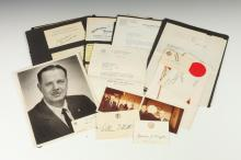 COLLECTION 64 U.S. AND OTHER POLTICIAL AUTOGRAPHS AND AUTOGRAPH-SIGNED LETTERS, PRIMARILY U.S SENATORS AND STATE GOVERNORS FROM THE 195