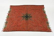 VICTORIAN WOOL PAISLEY SHAWL. mid-to-late 19th century. - 66 in. x 64 in.