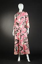 MALCOLM STARR AT HOME BELTED JUMPTSUIT, Circa 1970; size 8.