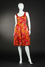 PHILIP HULITAR SILK SATIN PARTY DRESS, Circa 1960.