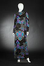 NETTIE MILGRIM MOD JERSEY MAXI DRESS, 1960s.