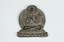CHINESE BRONZE FIGURE OF MONK. - 2 3/4 in. high.
