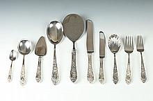 S. KIRK & SON STERLING SERVICE IN THE ROSE PATTERN (65 PIECES), Originally designed 1937. - 85.4 ounces.
