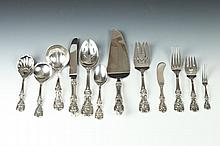 REED & BARTON STERLING SERVICE FOR NINE IN THE FRANCIS I PATTERN (47 PIECES), Designed 1907. - 80.4 Ounces.
