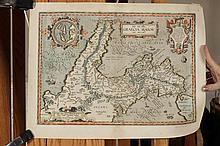 UNFRAMED MAP OF GRAECIA MAIOR, ORETLIEUS, C. 1595.