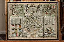JOHN SPEED MAP OF HUNTINGTON. 1610. - 20