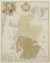MAP OF NORTH BRITAIN, - Matte opening : 21 5/8