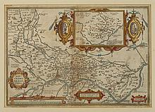 MAP OF NORTHERN ITALY , c. 1579. - Matte opening : 20 x 14 1/8 inches.