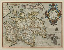 MAP OF SCOTLAND BY ABRAHAM ORTELIUS, 1609. - 18 7/8 x 14 3/8 inches.