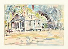 F. RICHARDSON MURRAY (American, 1889 - 1973). THE OLD HOUSE, watercolor.