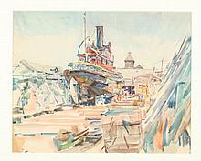 F. RICHARDSON MURRAY (American, 1889 - 1973). NEWPORT, watercolor.