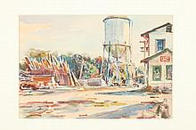 F. RICHARDSON MURRAY (American, 1889 - 1973). THE OLD SILO, watercolor.