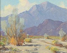 WILTON CHARLES MCCOY (American, 1902-1986). EARLY MORNING, DEEP CANYON, signed lower left and titled verso. Oil on board.