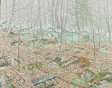 J. VANCE MILLER (American, 1912-2002). LANDSCAPE, BLACKSBURG, VA, signed lower right. Oil on canvas.