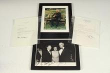 GROUP FIVE ITEMS VARIOUSLY SIGNED BY PRESIDENT BILL CLINTON AND OTHER POLITICAL NOTABLES,