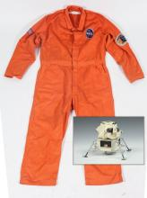 OFFICIAL NASA MINIATURE METAL AND PLASTIC MODEL OF MOON LANDER, - MOdel. H. 6 in.; overall, 8 in. square at base.
