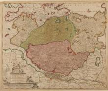 MAP OF HOLSATIA. 18th century. - 24 x 20 inches.
