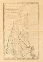 MAP OF NEW HAMPSHIRE WITH MAP OF BOSTON, 19th century. - 12 x 18 inches.