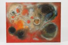LUC JANETZKY (French 20th century). PICCOLOMINI, signed and dated 1972 lower right; titled verso. Oil on canvas.