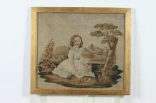 FOUR FRAMED VICTORIAN NEEDLEPOINT PANELS, Late 19th Century. - Ranging in size from: 17 1/8
