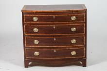 FEDERAL STYLE MAHOGANY FOUR DRAWER CHEST BY BAKER, 20th Century. - 32
