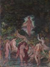 UNKNOWN (Early- Mid 20th century). DIANA AND MAIDENS in FOREST GLADE,