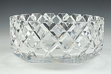 ORREFORS COLORLESS CRYSTAL CENTERBOWL. - 5 in. high x 10 1/2 in. diam.