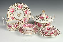 COLLECTION ENGLISH PORCELAIN, 19th-20th century. - 5 3/4 in. high, sugar.