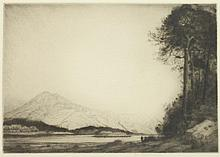 JOHN MATHIESON (Scottish, 19th/20th century). BALLACHULISH, pencil signed lower margin. Etching.