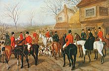 BRITISH SCHOOL (20th century). ENGLISH HUNT SCENE, photo reproduction.