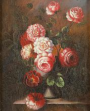CONTINENTAL SCHOOL (20th century). FLORAL STILL LIFE, oil on canvas.