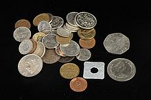 GROUP ASSORTED EARLY TO LATE 20TH CENTURY FOREIGN COINS, early to late 20th century.