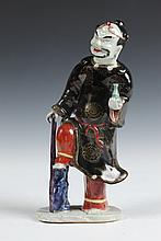 CHINESE FAMILLE ROSE PORCELAIN FIGURE OF